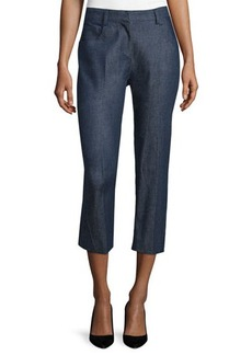 Costume National Mid-Rise Cropped Trousers