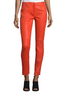 CoSTUME NATIONAL Mid-Rise Skinny Leather Pants
