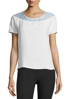 CoSTUME NATIONAL Short-Sleeve Open-Back Top