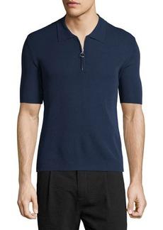 Costume National Short-Sleeve Zip-Front Sweater