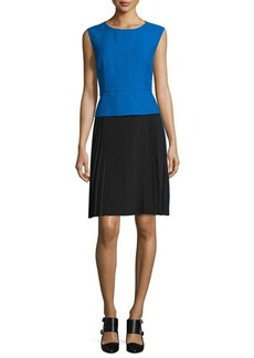 CoSTUME NATIONAL Sleeveless Colorblock Sheath Dress