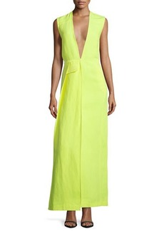CoSTUME NATIONAL Sleeveless Plunging-Neck Maxi Dress