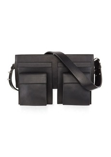 Costume National Utility-Style Leather Shoulder Bag