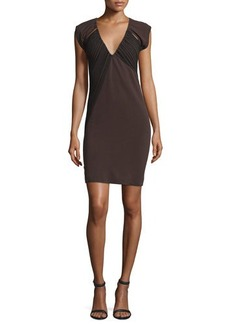 CoSTUME NATIONAL V-Neck Open-Back Sheath Dress