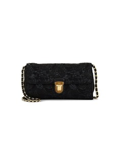 Prada Women's Floral Brocade Shoulder Bag - Black