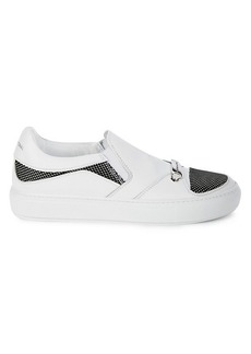 Costume National Leather Slip-On Sneakers