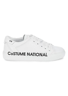 Costume National Logo Leather Sneakers
