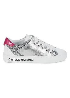 Costume National Logo Sole Leather Sneakers