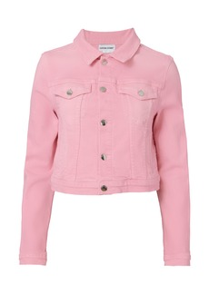 Cotton Citizen Pink Cropped Jean Jacket