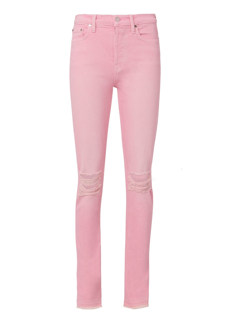 Cotton Citizen Pink Distressed Skinny Jeans