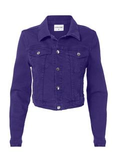Cotton Citizen Purple Cropped Denim Jacket