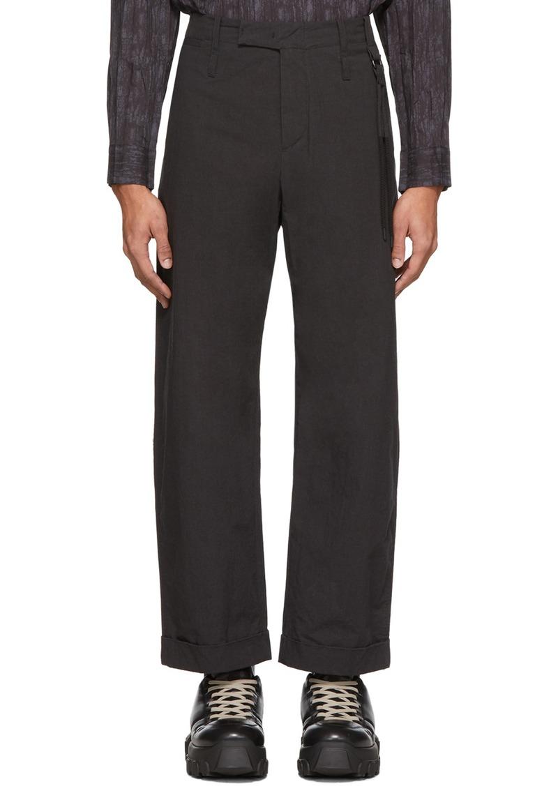 Craig Green Black Uniform Trousers