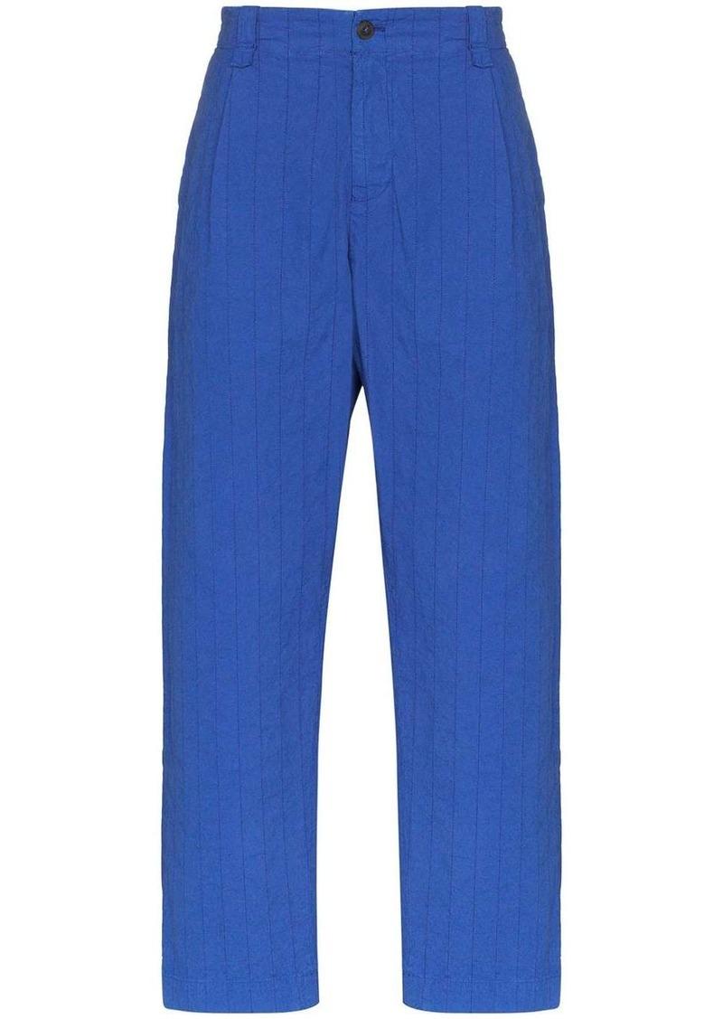 Craig Green Chore striped cotton trousers