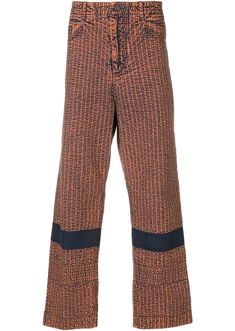 Craig Green contrast panel trousers