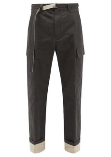 Craig Green Belted cotton-blend cargo trousers