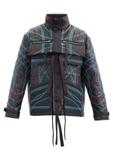 Craig Green Contrast overlock quilted shell jacket