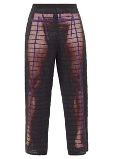 Craig Green Elastic-quilted body-print cotton trousers