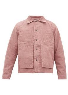 Craig Green Embroidered puckered-canvas jacket