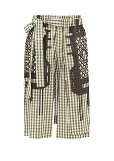 Craig Green Gingham-check cotton-poplin shorts
