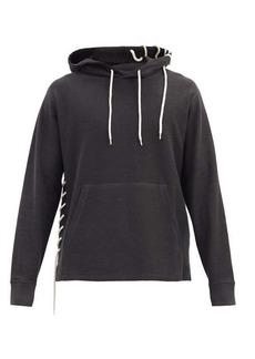 Craig Green Laced cotton-blend hooded sweatshirt
