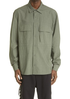Craig Green Laced Cotton Button-Up Shirt