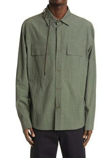 Craig Green Laced Cotton Long Sleeve Button-Up Shirt