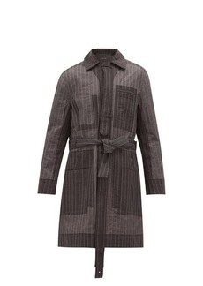 Craig Green Pinstripe-stitch technical-organza coat