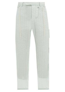 Craig Green Quilted-panel shell trousers