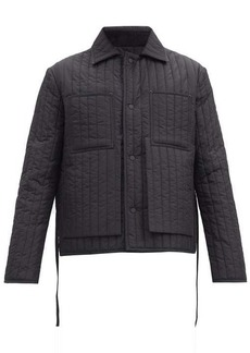 Craig Green Single-breasted quited shell jacket