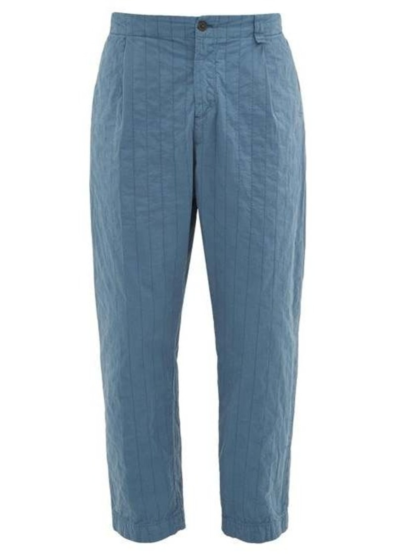Craig Green Straight-leg topstitched shell trousers