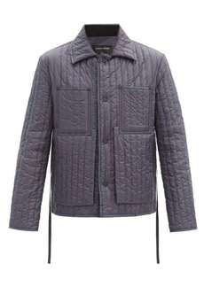 Craig Green Topstitched quilted nylon jacket