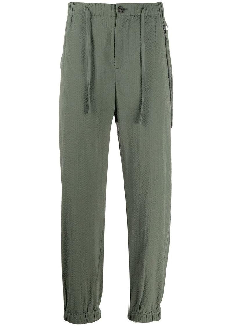 Craig Green drawstring-waist seersucker track pants