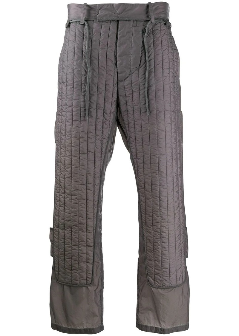Craig Green fitted quilted panel trousers