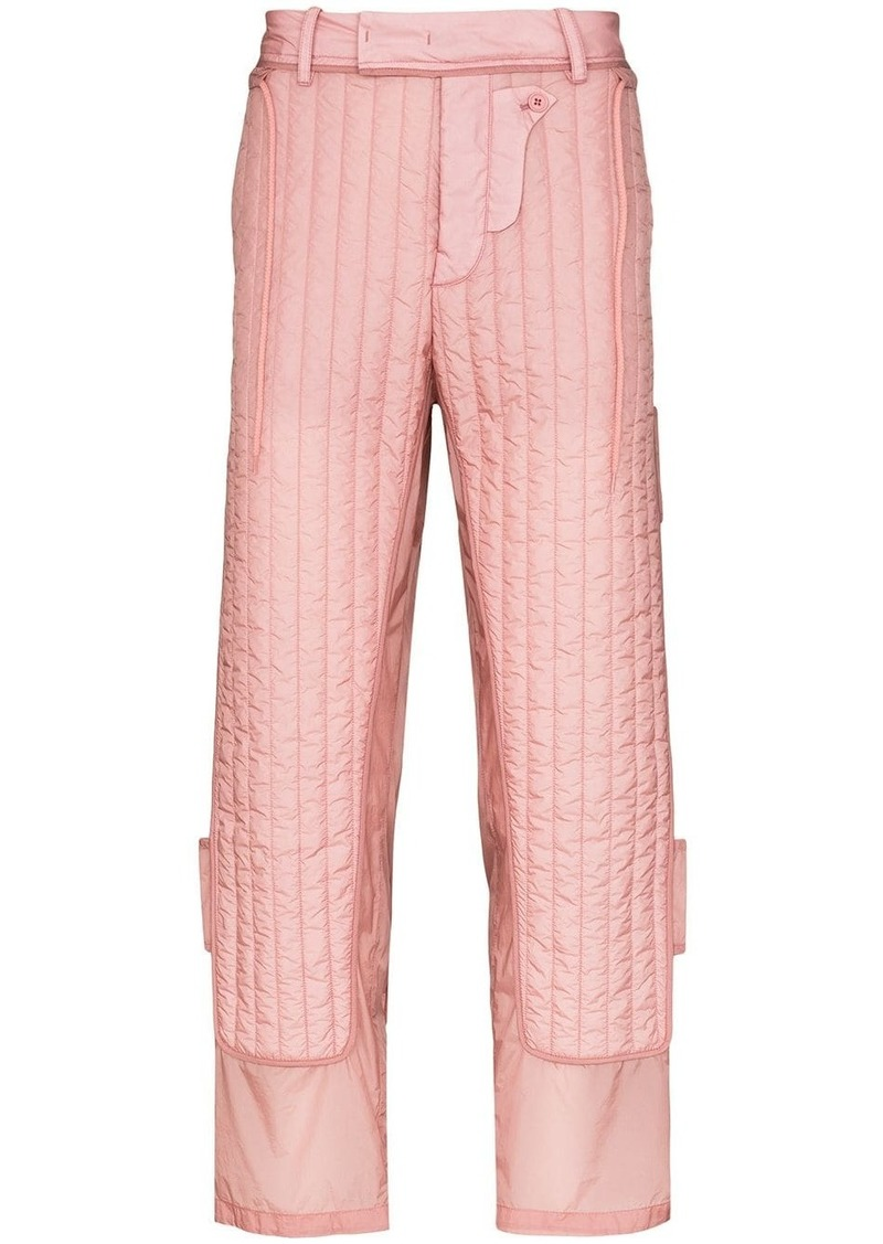 Craig Green quilted detailing straight trousers