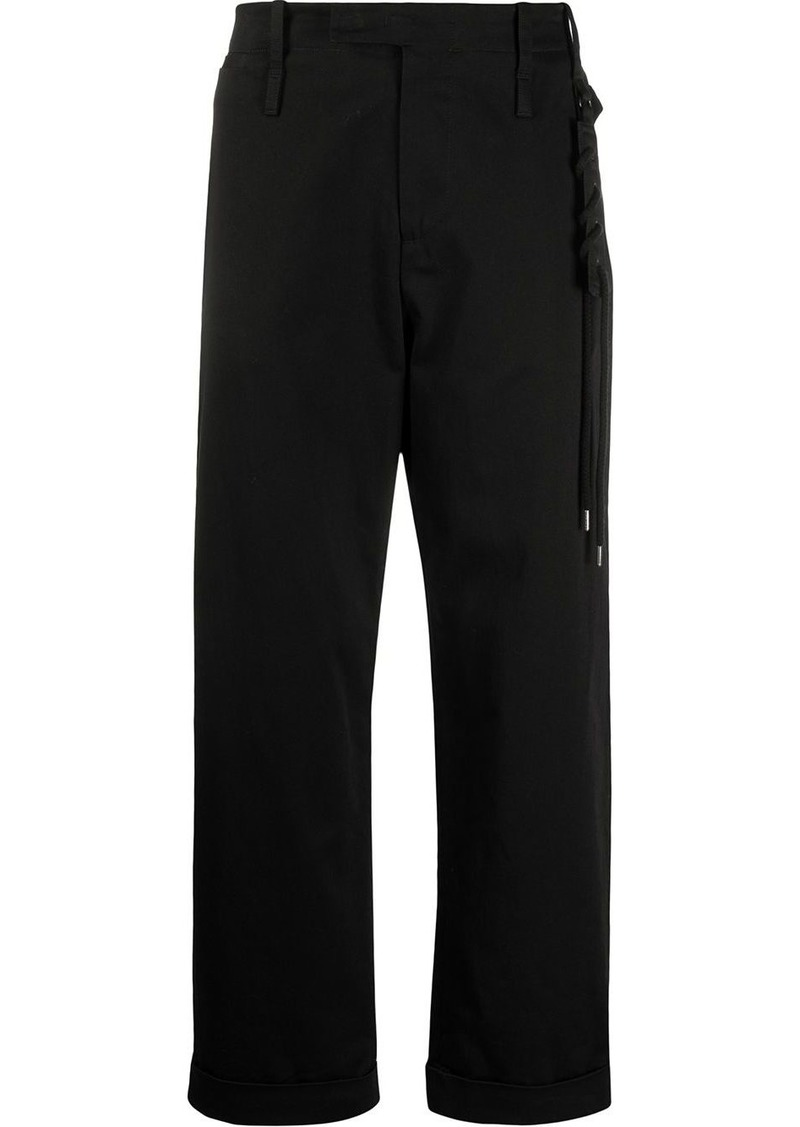 Craig Green side lace detail cropped trousers