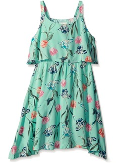 Crazy 8 Little Girls' Floral Woven Dress Multi Small/5-6