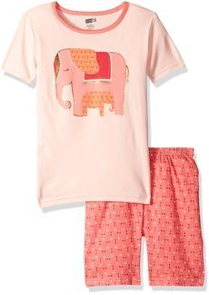 Crazy 8 Big Girls' Her Li'l Short Sleeve Pajamas