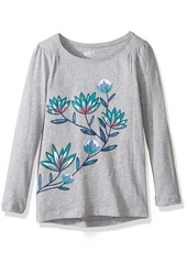 Crazy 8 Girls' Big Long-Sleeve Graphic with High-Low Hem  XS