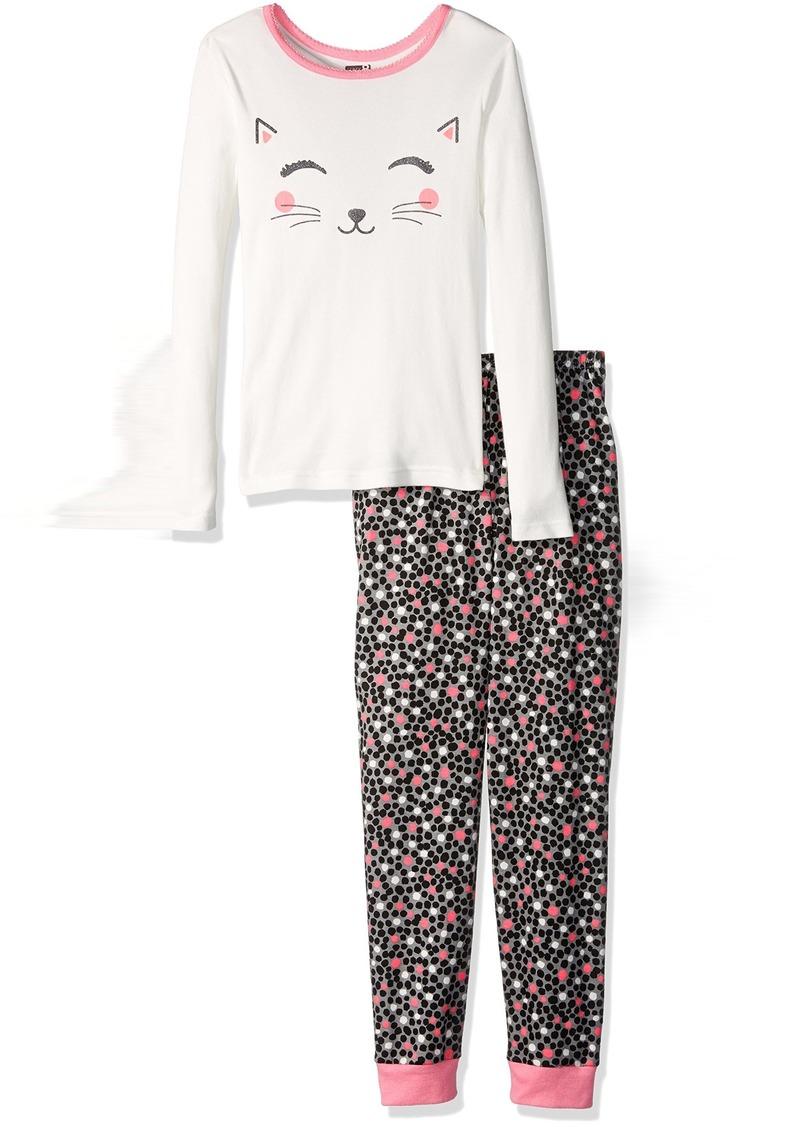 b412c00ff Crazy 8 Crazy 8 Big Girls' Sleeve Long-Bottom Tight-Fit Pajama Set ...