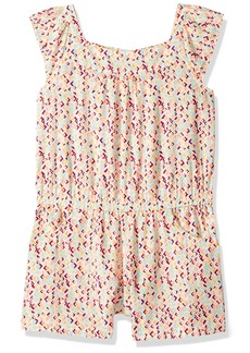 Crazy 8 Big Girls' Mlti Wvn Geo Woven Romper Multi