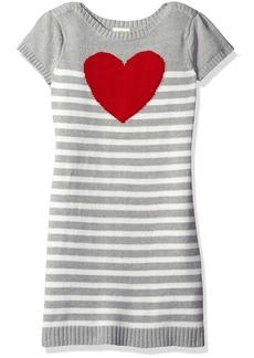 Crazy 8 Big Girls' Striped Heart Sweater Dress Multi L