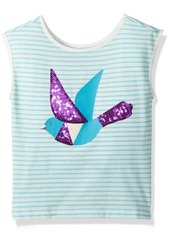 Crazy 8 Big Girls' STRP Stripe Bird Knit Top  L