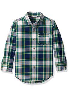 Crazy 8 Boys' Little Long Sleeve Woven Print Shirt  S