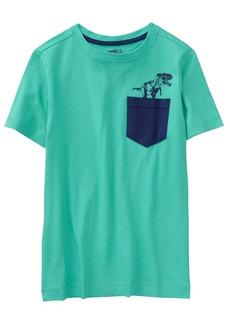 Crazy 8 Boys' Little Short Sleeve Basic Knit Pocket Tee  XL