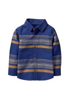 Crazy 8 Boys' Toddler Li'l Long Sleeve Button Up Shirt  T