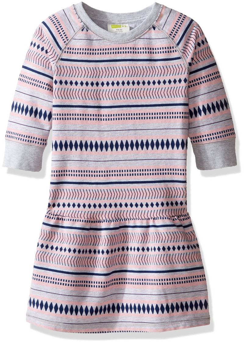 Crazy 8 Big Girls' Jacquard Print French Terry Dress Multi XS