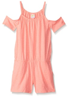 Crazy 8 Girls' Big Sleeveless Casual Knit Romper neon Light Coral