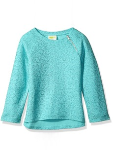 Crazy 8 Girls' Little Long Sleeve High Low Sparkle Sweater  L