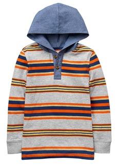 Crazy 8 Little Boys' Hooded Chambray Henley Multi XL