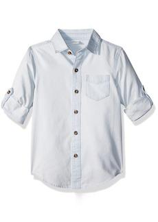Crazy 8 Little Boys' Long Sleeve Convertible Button up Shirt  S